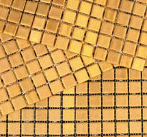 Mozaik pločice mat zlato