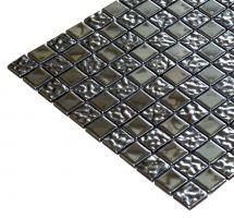 Mozaik pločice staklene srebrene