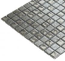 Mozaik pločice staklene srebreni mix