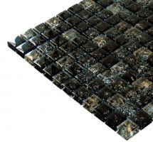Mozaik pločice staklene crne
