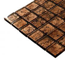 Mozaik pločice staklene svijetlo smeđe