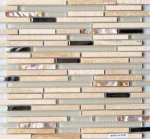 Dekorativne staklene mozaik pločice Lluvia Beige
